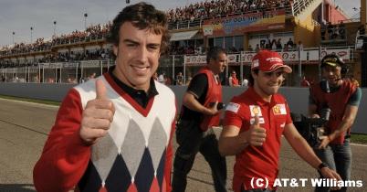 フェラーリのイベントにアロンソとマッサが登場 thumbnail