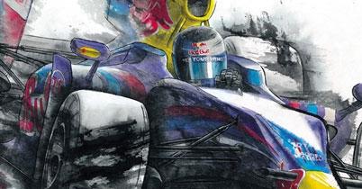垂井ひろしの墨のF1アート展、開催 thumbnail